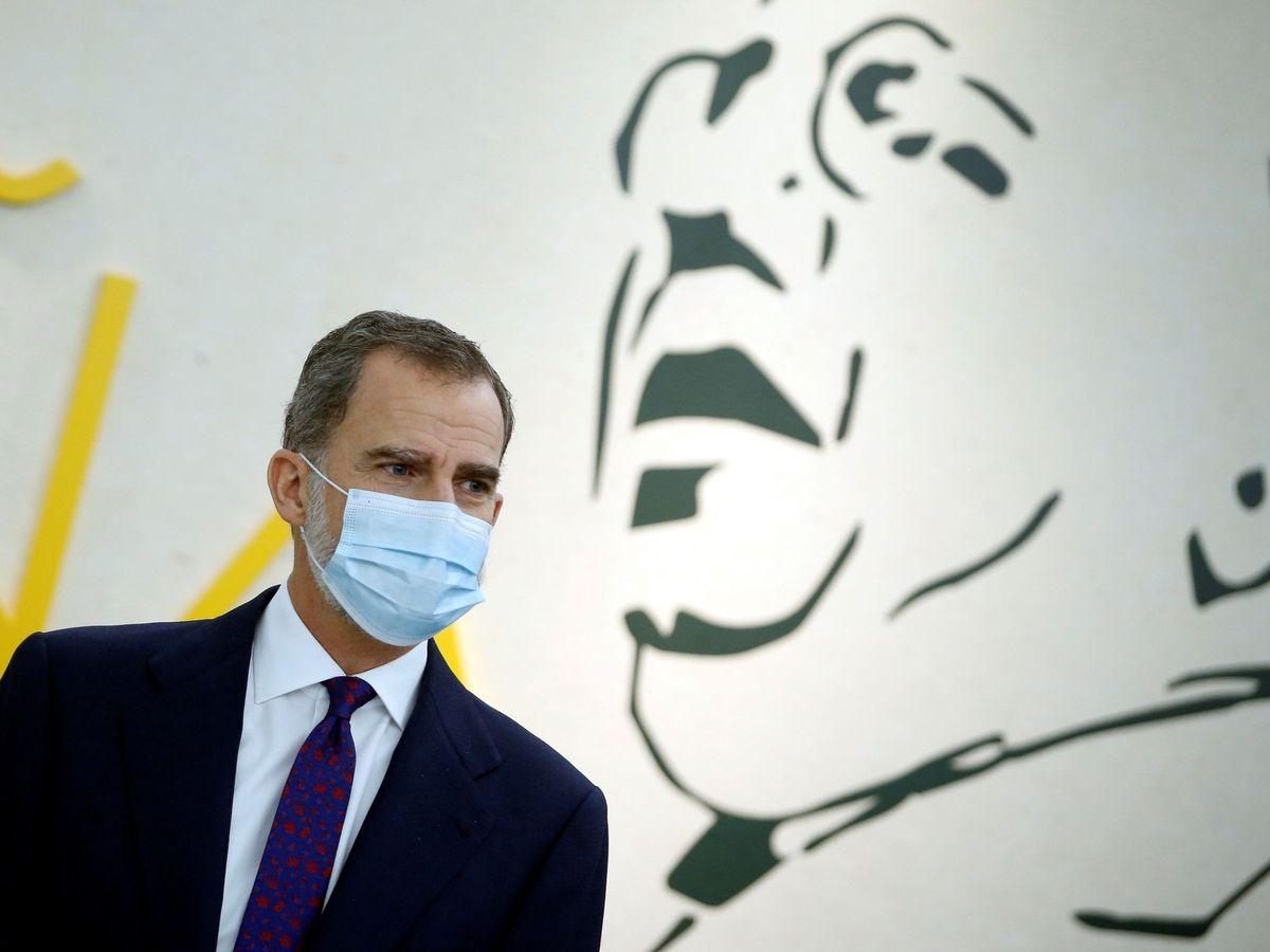 Foto: El rey Felip VI, en la inauguración de la exposición dedicada al republicano Manuel Azaña. (EFE)