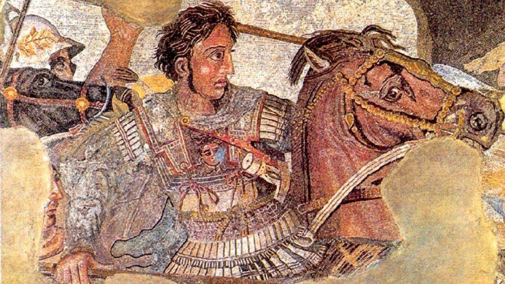 Foto: Mural latino que representa a Alejandro Magno en la Batalla de Issos