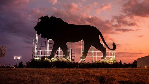 Valla publicitaria de la película el Rey León en Madrid
