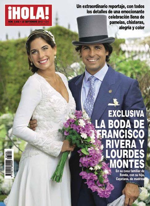 Boda de Fran Rivera y Lourdes Montes en 'Hola'