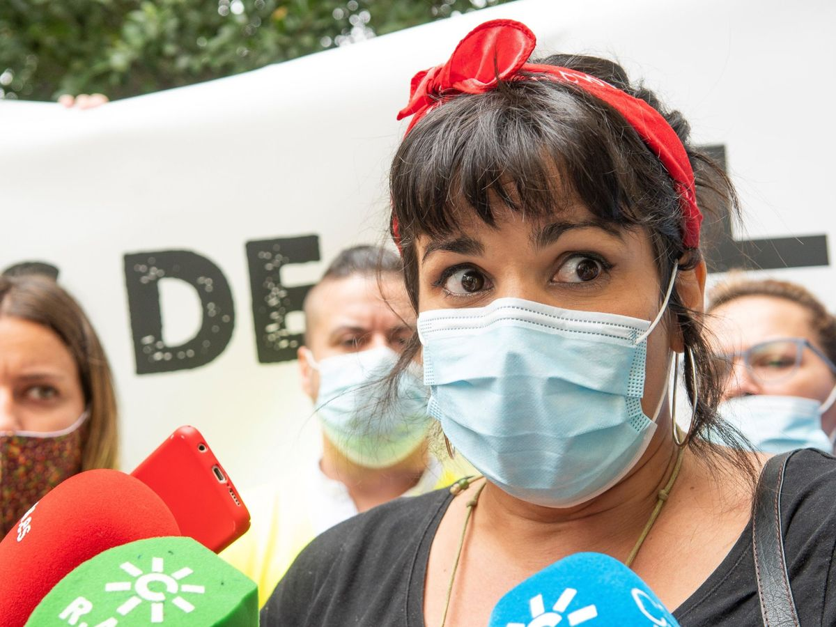 Foto:  La líder andaluza de Anticapitalistas y portavoz de Adelante, Teresa Rodríguez. (EFE)