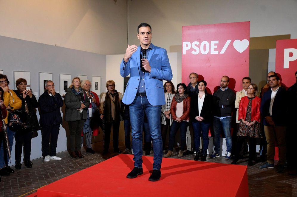 Foto: Pedro Sánchez, este 23 de octubre, en un acto de precampaña en Segovia. (EFE)