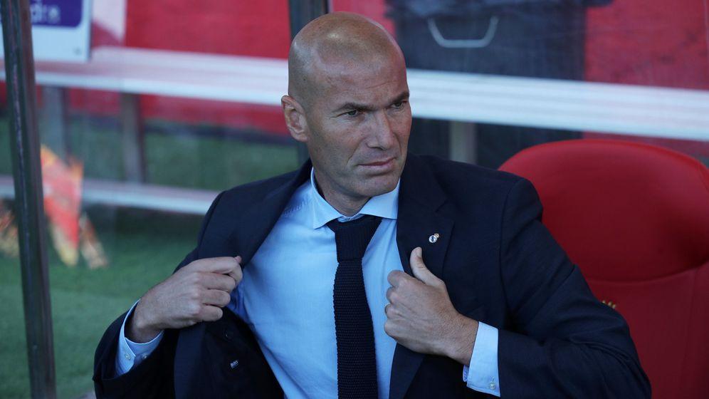 Foto: Zidane, durante el Girona-Real Madrid jugado este domingo en Montilivi. (Reuters)