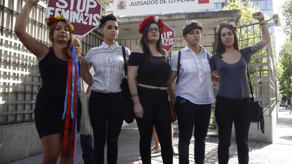 Absueltas las cinco activistas de Femen que irrumpieron en una marcha antiabortista