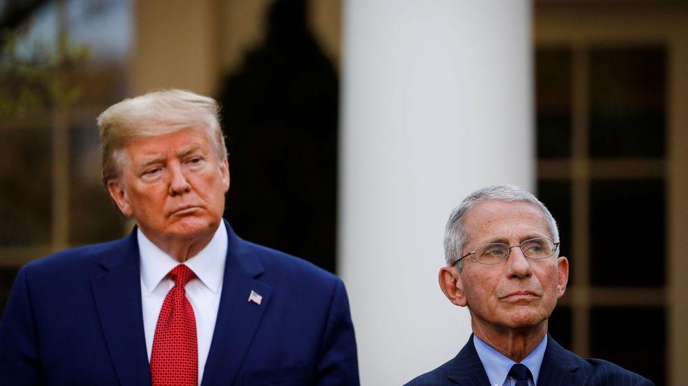 Foto: Donald Trump y Anthony Fauci. (Reuters)