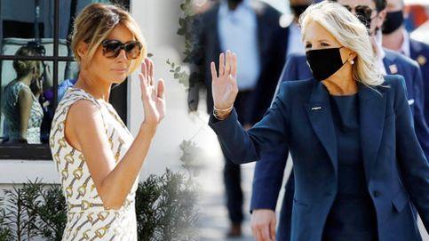 Melania Trump y Jill Biden, ostentación vs. sobriedad durante la jornada electoral