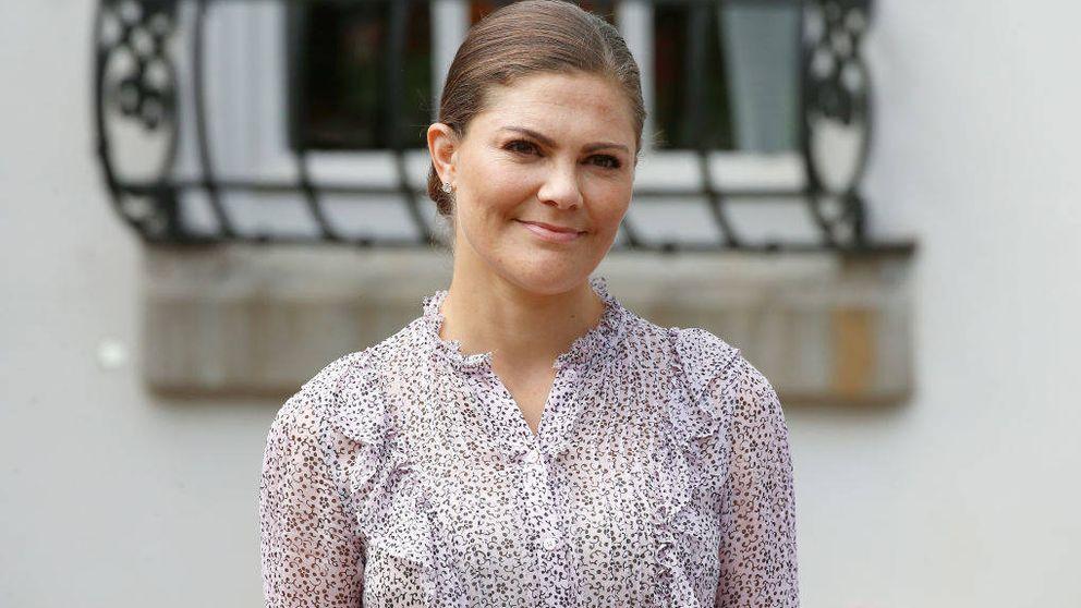 Victoria de Suecia se lleva el susto de su vida