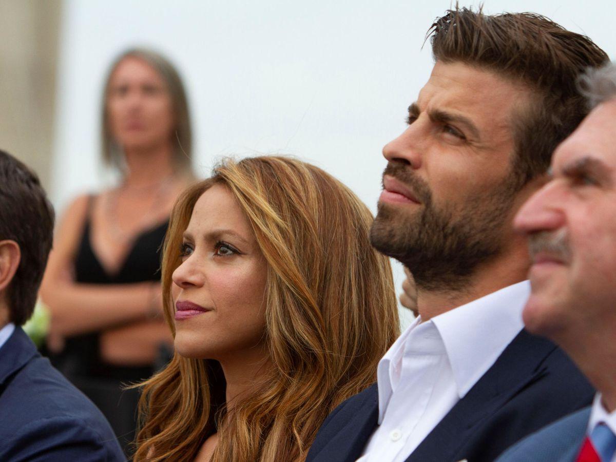Foto: Piqué presenta su nueva apuesta por la Copa Davis, en Nueva York, junto a Shakira. (EFE)