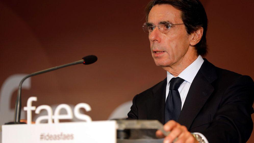 Foto: El expresidente del Gobierno y presidente de la Fundación para el Análisis y los Estudios Sociales (FAES), José María Aznar. (EFE)