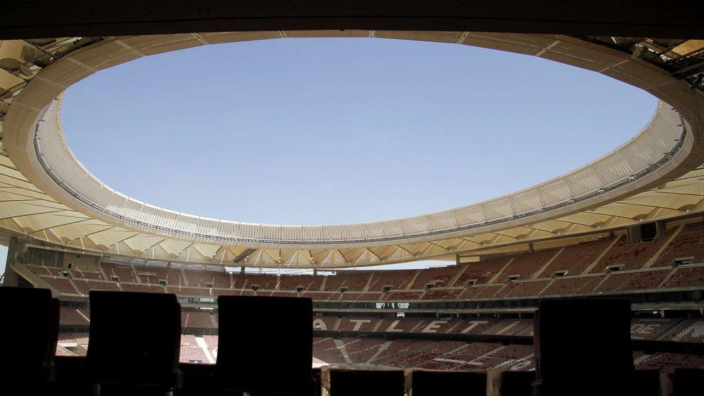 Las goteras invaden el Wanda Metropolitano