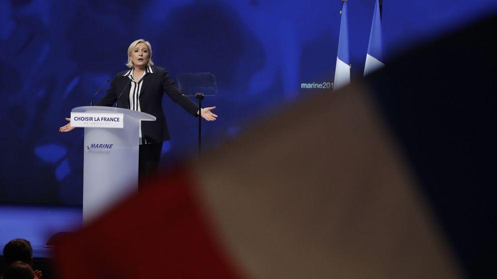 Foto: Le Pen durante un mitin. (Reuters)