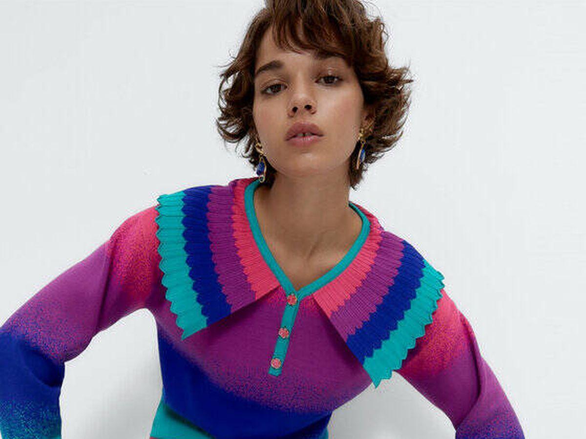 Foto: Jersey colorido de Uterqüe. (Cortesía)