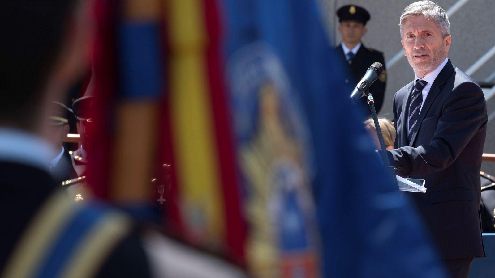 Foto: Fernando Grande-Marlaska, ministro del Interior, el pasado 14 de junio en Ávila. (EFE)