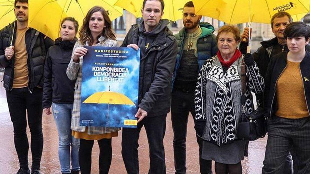 La ANC vasca busca teñir San Sebastián de amarillo ante el juicio a los líderes catalanes
