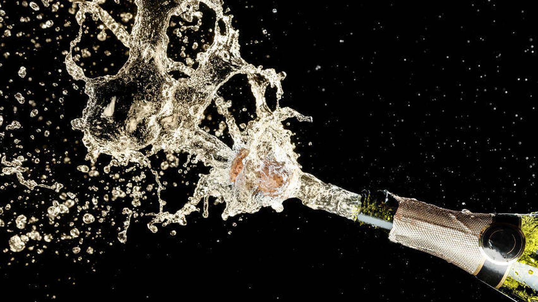 La magia del champagne.