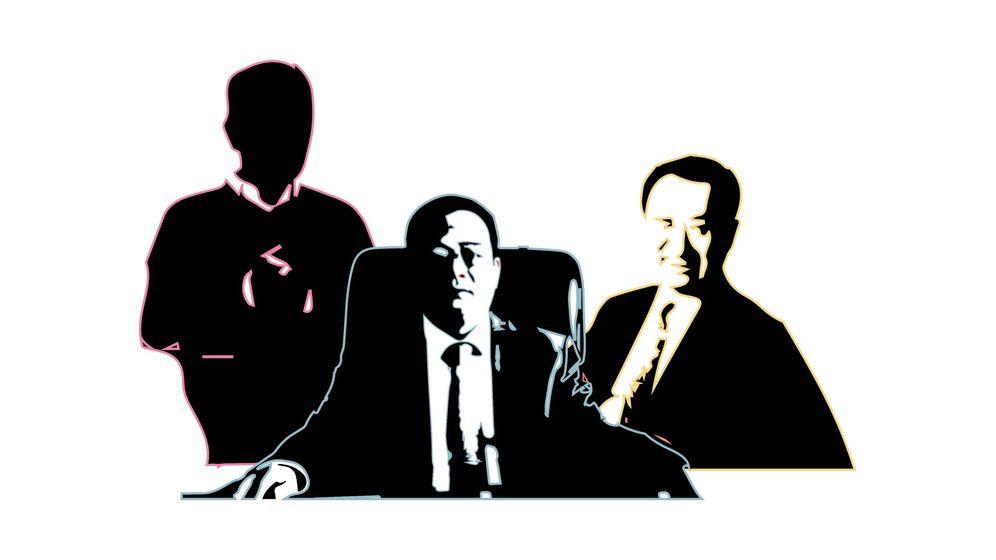 Foto: De izquierda a derecha: el singapurense, Peter Lim, dueño del Valencia CF y los chinos Chen Wanseng, propietario del Espanyol, y Wang Jianlin, inversor del Atlético de Madrid