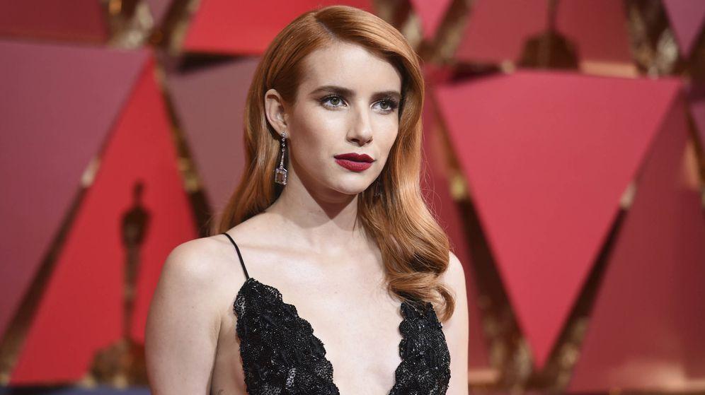 Foto: Emma Roberts, una de las actrices que se atrevió a lucir este color de pelo en la pasada edición de los Oscar. (Foto: Gtres)