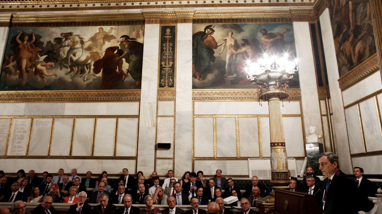 Mario Draghi, en una conferencia en Atenas. (Reuters)