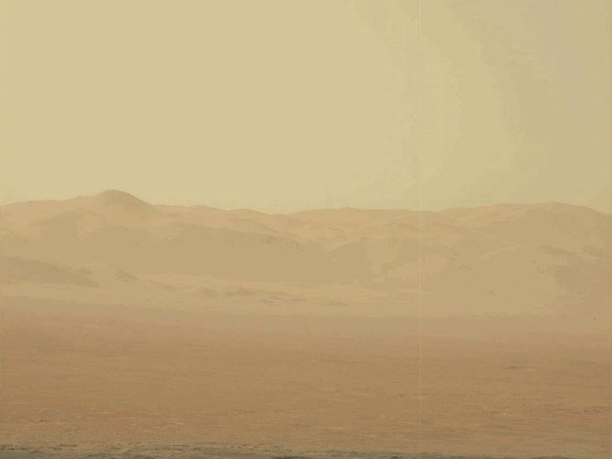 Foto: Superficie del planeta Marte tras una tormenta de arena. (EFE)