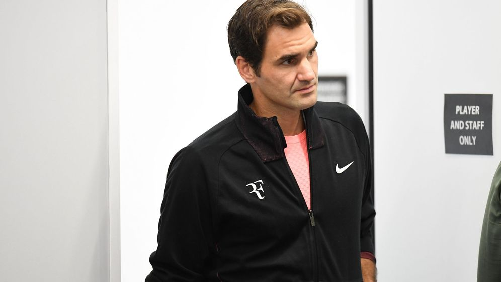 Foto: Roger Federer, en rueda de prensa. (EFE)