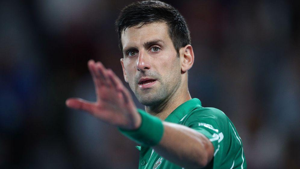 Foto: Djokovic, durante su partido de cuartos contra Raonic. (Reuters)
