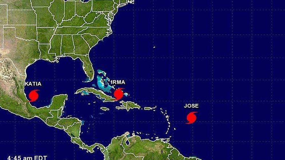 Foto: Tres huracanes en el Atlántico (CNH)