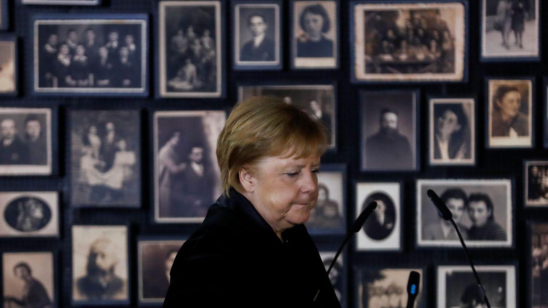 Foto: Angela Merkel en Auschwitz. (Reuters)