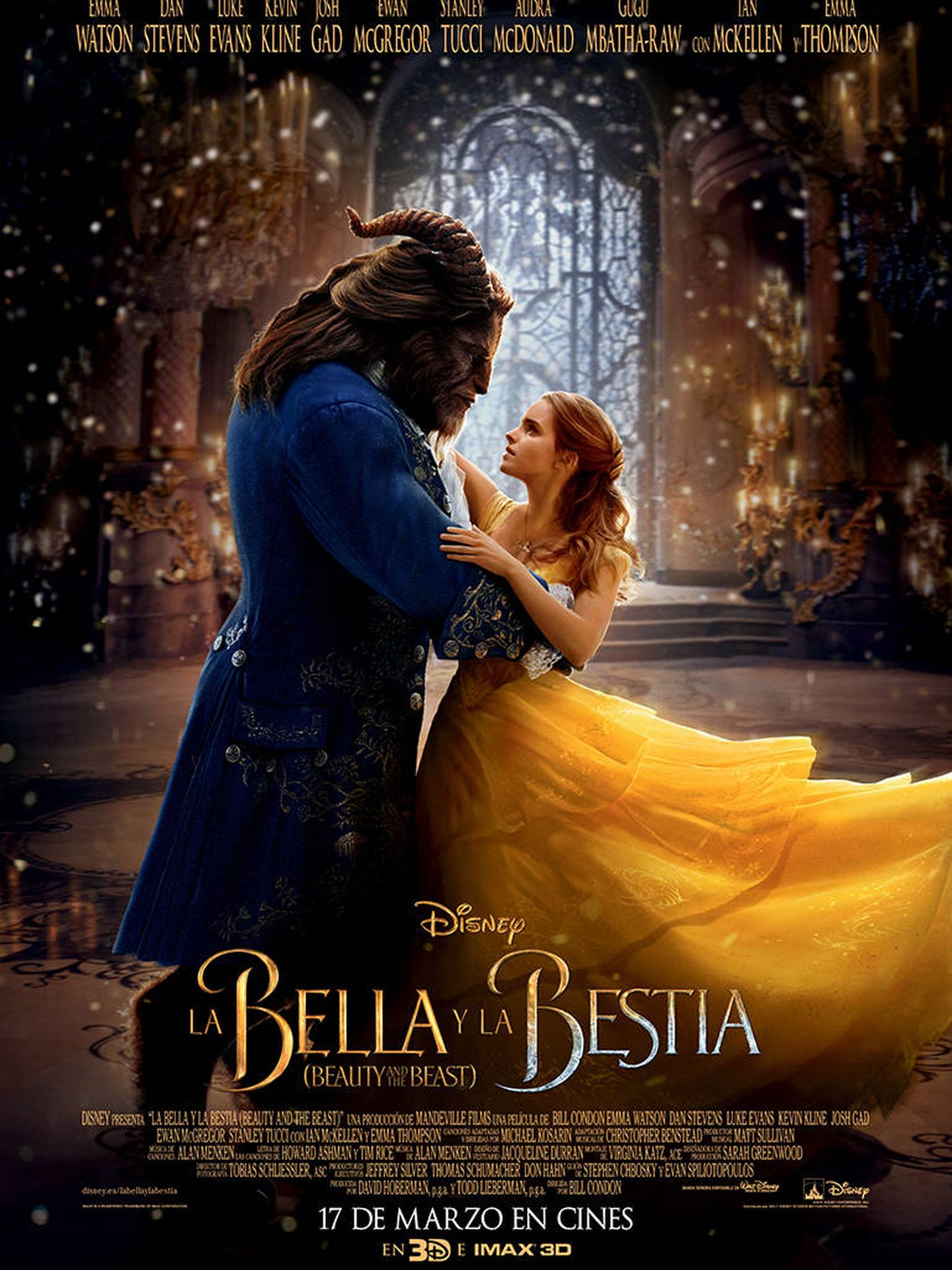 Cartel de 'La Bella y la Bestia'.