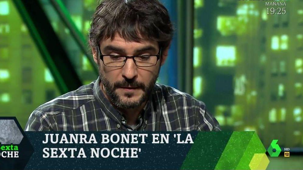 Foto: Juanra Bonet, en 'La Sexta noche'. (Atresmedia).