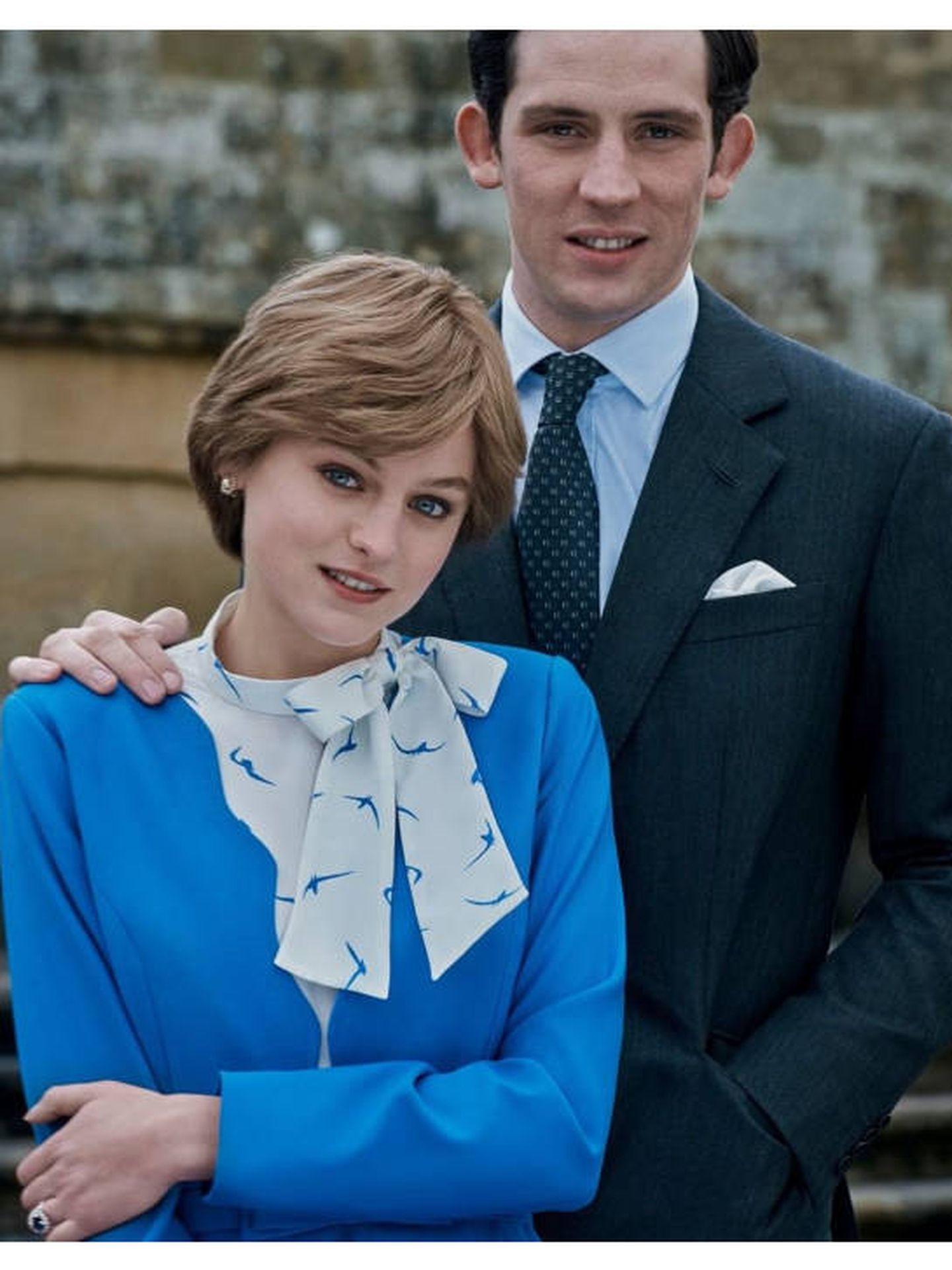 Carlos y Diana, en la cuarta temporada de 'The Crown'. (Instagram @netflixuk)
