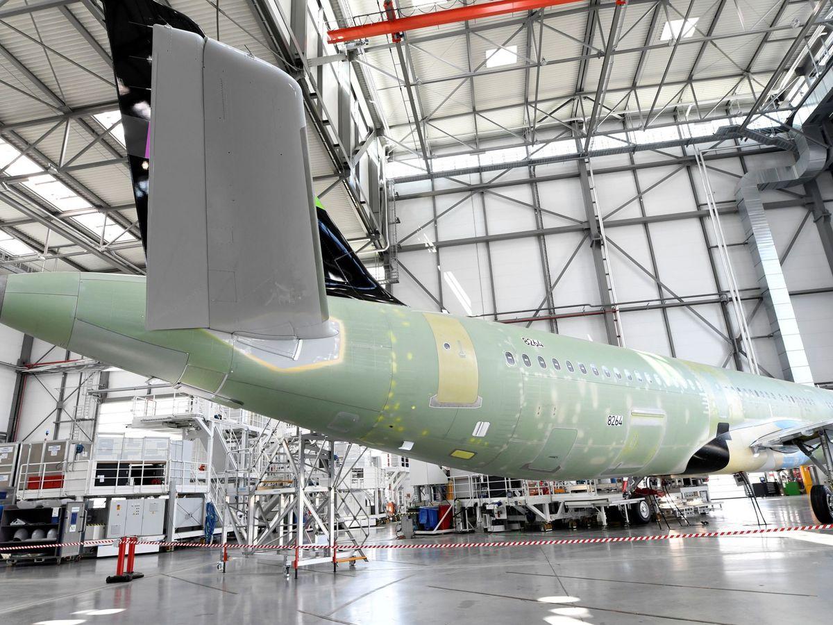 Foto: Un Airbus A320 en la planta de Hamburgo. (Reuters)