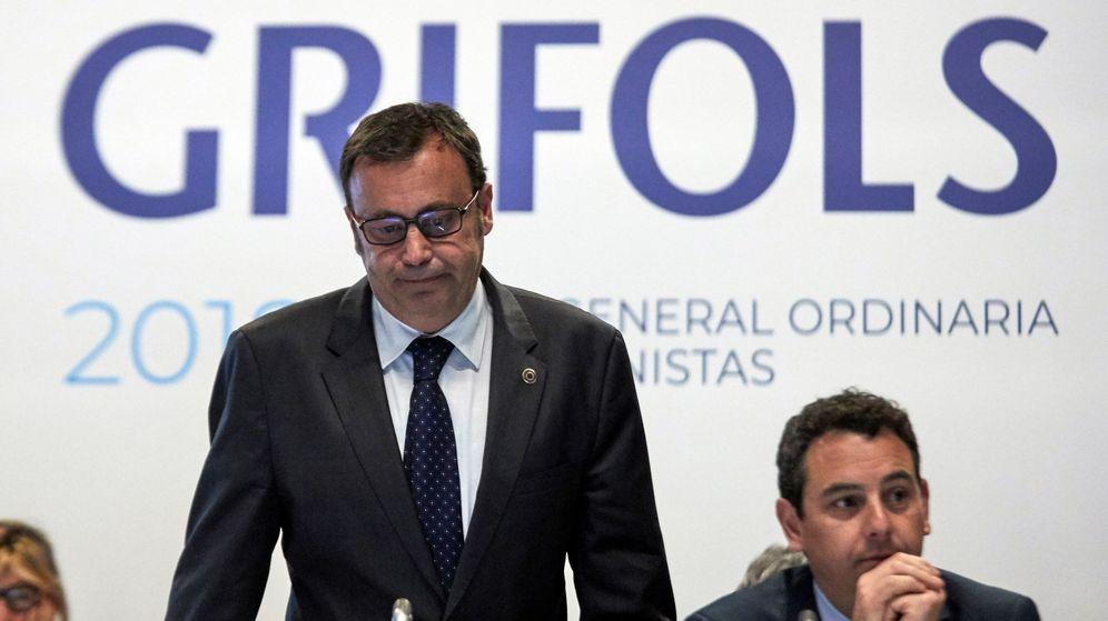 Foto: Los consejeros delegados de la multinacional de hemoderivados Grifols, Raimon Grifols y Victor Grifols (d)