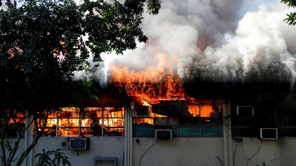 Los incendios eternos en las chabolas de Manila