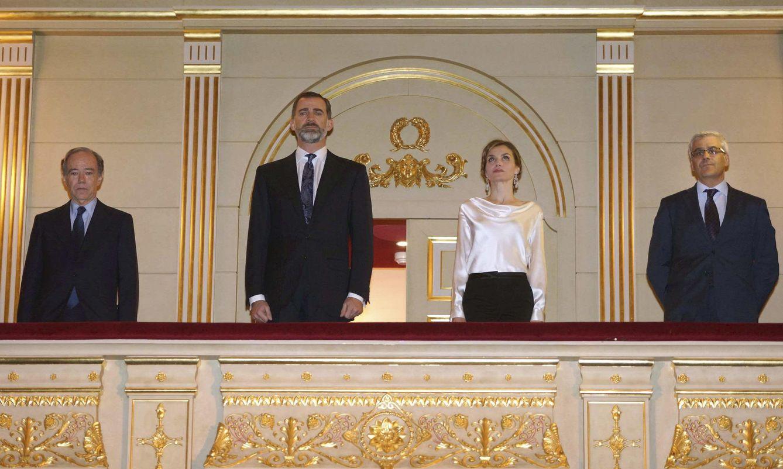 Foto: Felipe y Letizia, por primera vez como Reyes en el Teatro Real