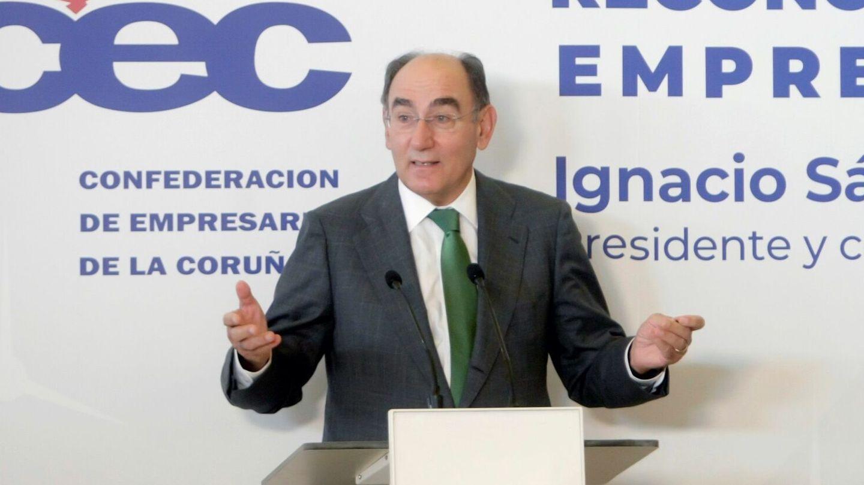 El presidente de Iberdrola, Ignacio Sánchez Galán, en un acto en A Coruña. (EFE)