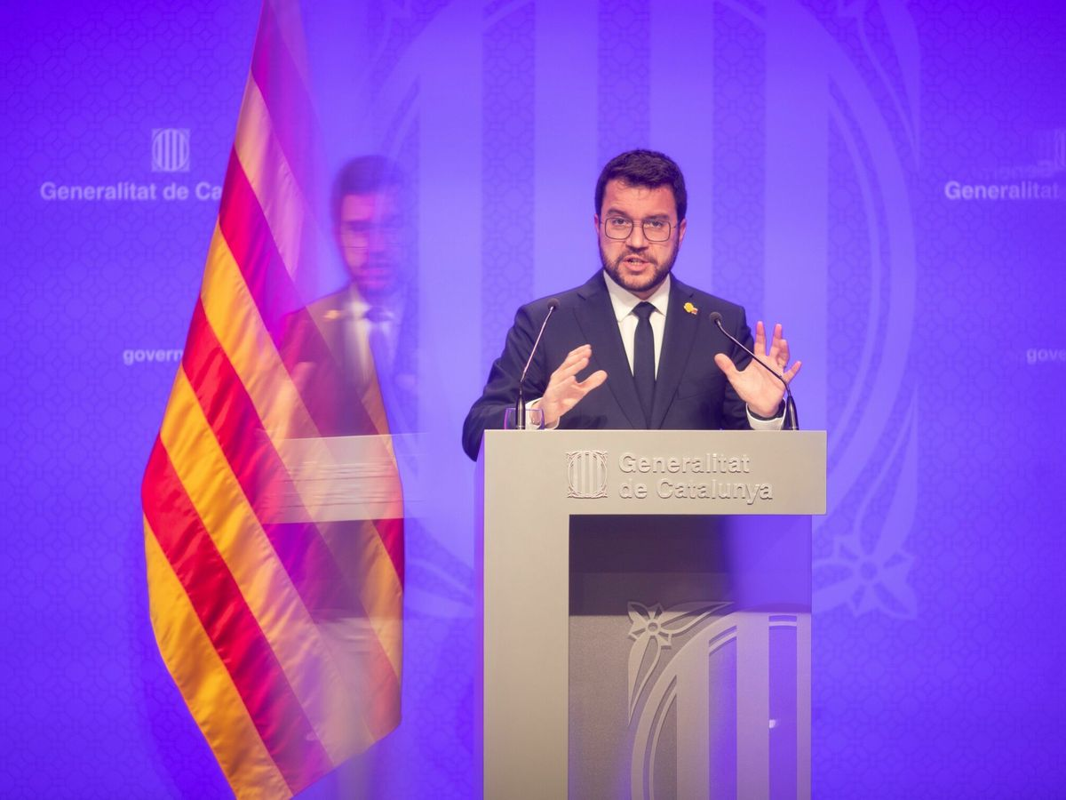 Foto: El presidente catalán, Pere Aragonès. (EFE)