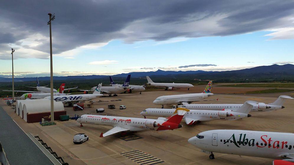 Foto: Aviones estacionados en el aeropuerto de Castellón. (Aerocas)