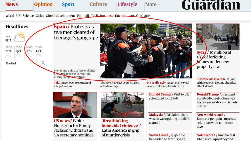 Los medios internacionales se hacen eco de las protestas contra La Manada