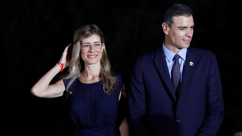 Pedro Sánchez y Begoña Gómez, en el G20. (EFE)