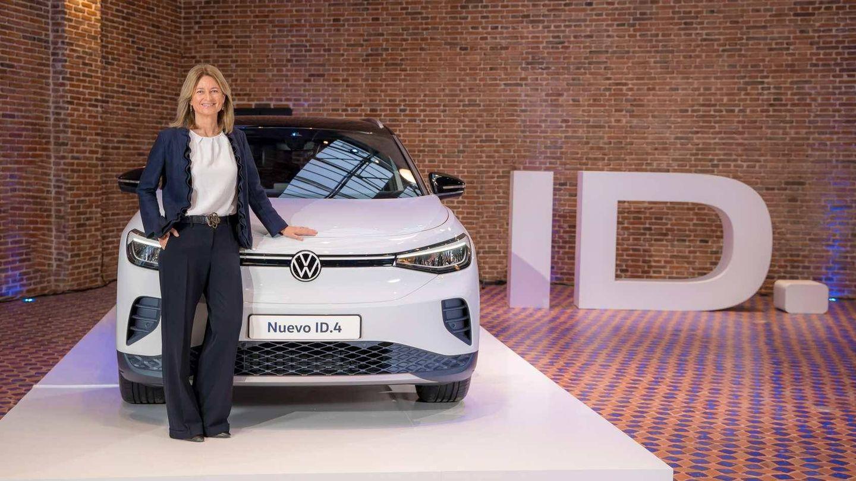 Laura Rosa, directora general de Volkswagen España, durante la presentación del ID.4.