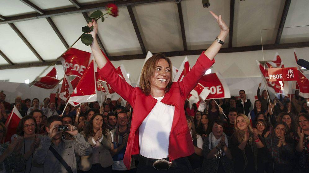Foto: Carme Chacón, en un acto del PSOE en Almería. (EFE)