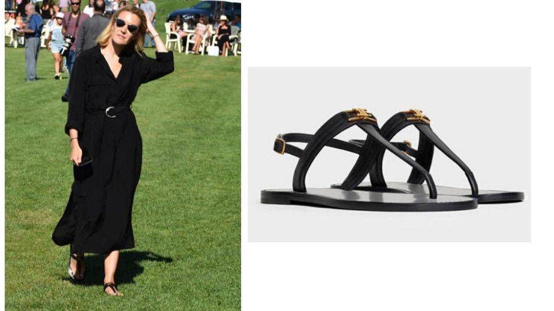 Marta con las sandalias de Celine. (Agencias)