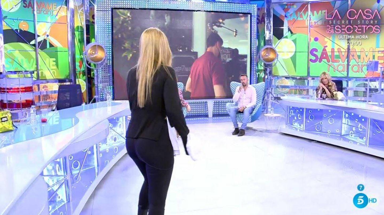 Belén Esteban abandona el plató de 'Sálvame'. (Mediaset España)