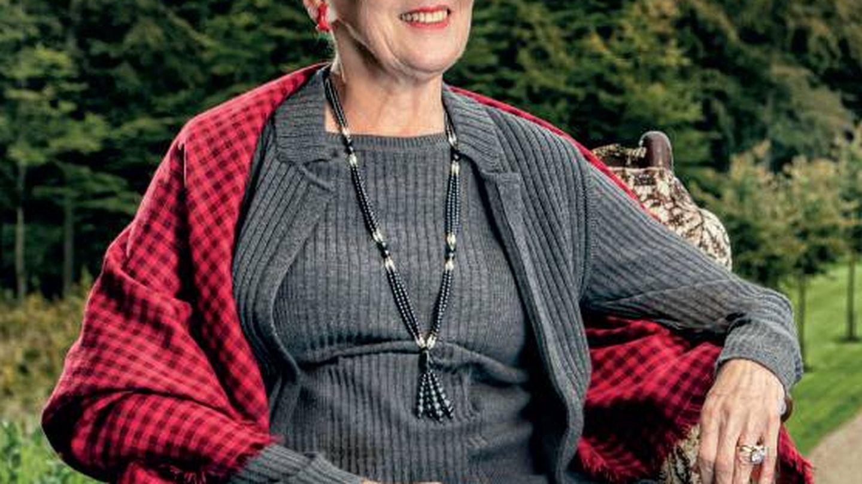 Retrato oficial de la reina Margarita, con motivo de su 80 cumpleaños. (Casa Real de Dinamarca)