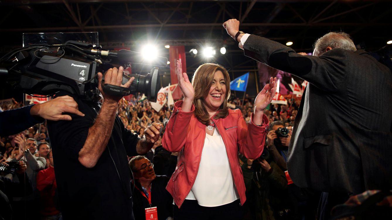 Foto: Susana Díaz, durante la presentación de su candidatura a las primarias, este 26 de marzo en el pabellón 1 de Ifema de Madrid. (Reuters)