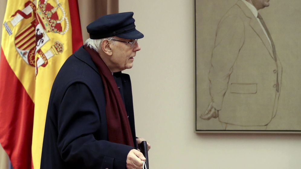Foto: El presidente del Consejo de Estado, José Manuel Romay Beccaría, a su llegada a la reunión de la comisión territorial, el pasado 17 de enero. (EFE)