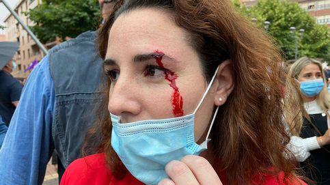 Herida una diputada de Vox al recibir una pedrada en un mitin en Sestao (Vizcaya)