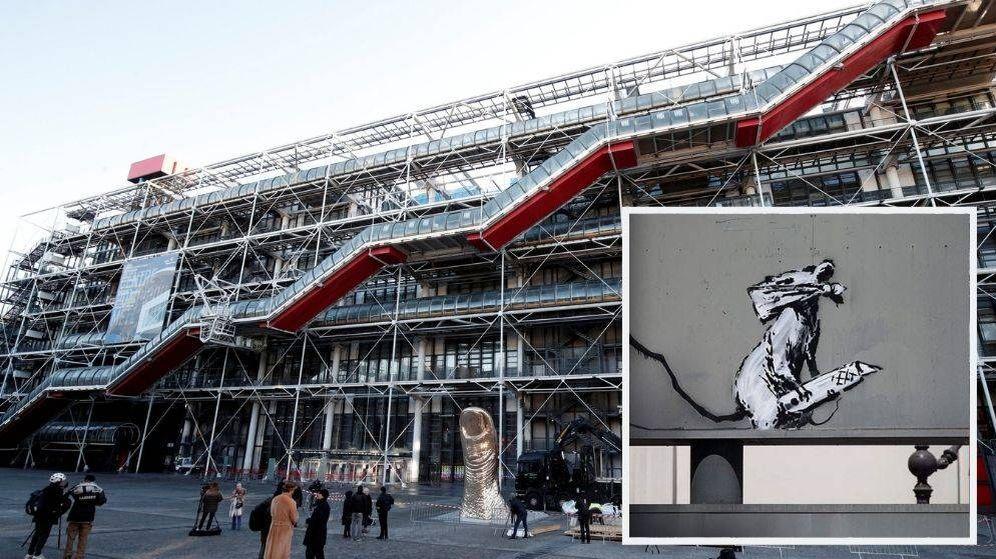 Foto: Un grafiti de Banksy que estaba junto al Centre Pompidou de París ha desaparecido. (Reuters)