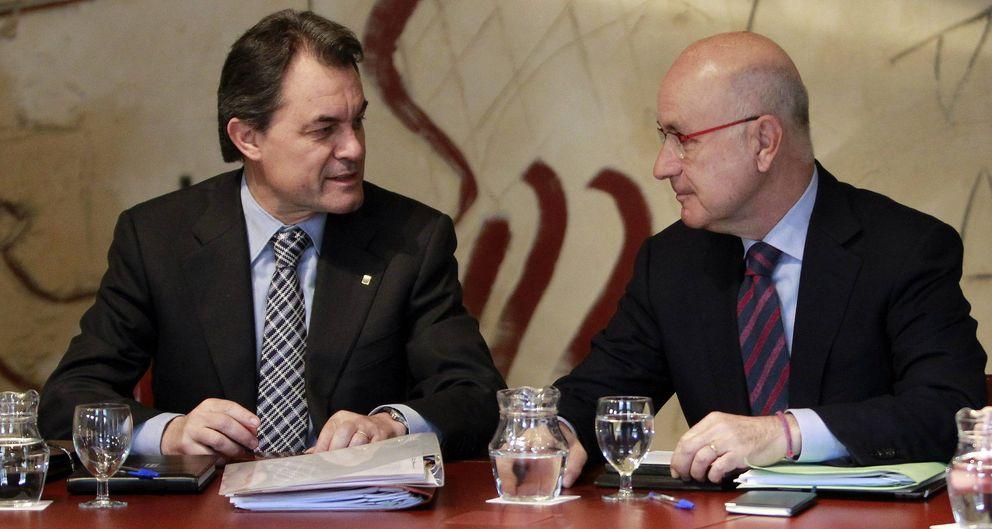 El presidente de la Generalitat, Artur Mas, y Josep Antoni Duran. (EFE)