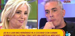 Post de 'La última cena' se la juega a Carmen Borrego: Hernández es su compañero